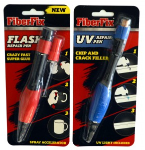 FiberFix Flash repair pen ja UV repair pen
